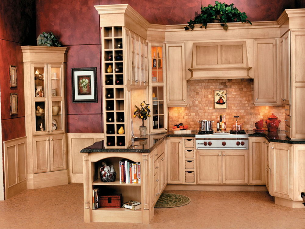 Wine Kitchen Cabinets