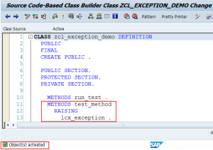 Method raising local exception