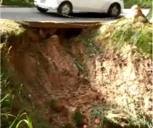 buraco em avenida em Capivari