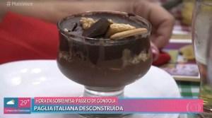 Taça de Brigadeiro com Palha Italiana Desconstruída