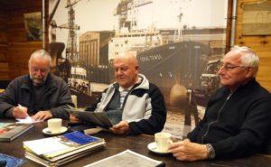 Werner Van De Walle links, Robert Vercruyssen in het midden en Eddy groenwals rechts