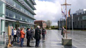 Erfgoeddag 2016, Boelwandeling met vlaggen ritueel op het Frans Boelplein