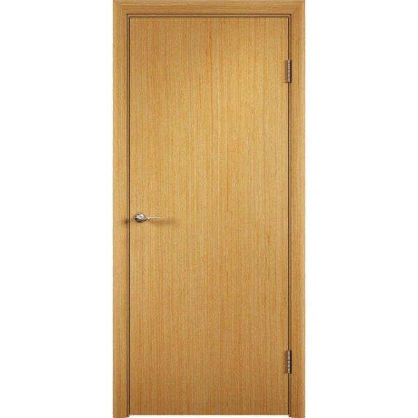 Гладкая шпонированная дверь (дуб)