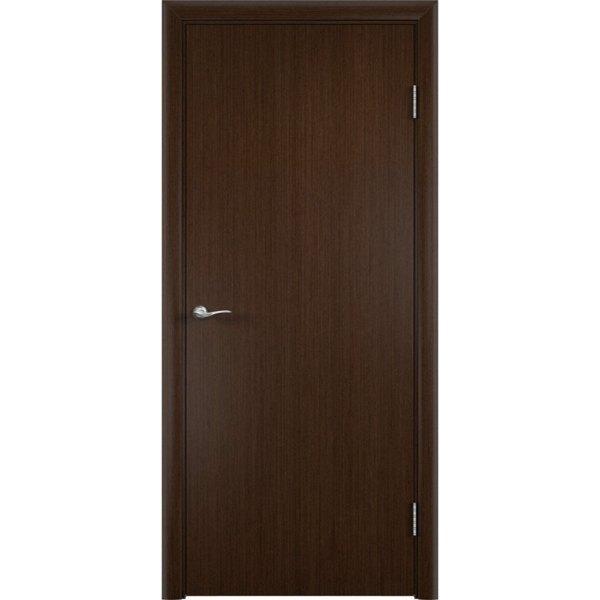 Гладкая шпонированная дверь (венге)