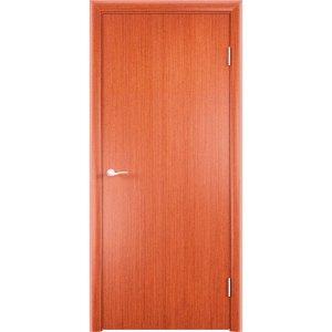 Гладкая шпонированная дверь (вишня)