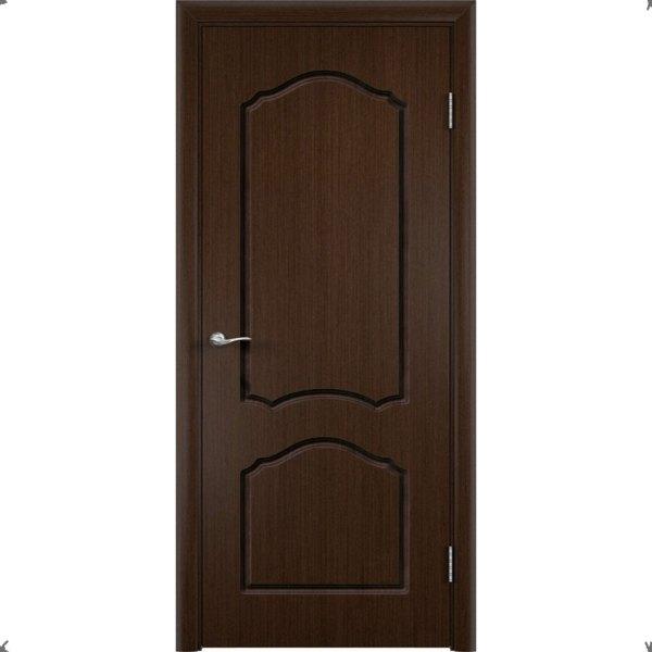 Шпонированная дверь Каролина (глухая, венге)