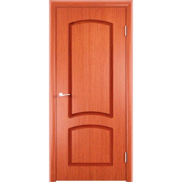 Шпонированная дверь Наполеон (глухая, вишня)