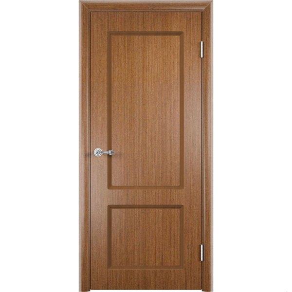 Шпонированная дверь Марсель (глухая, темный дуб)