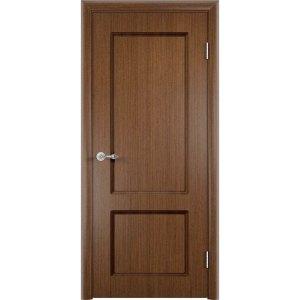Шпонированная дверь Марсель (глухая, темный орех)