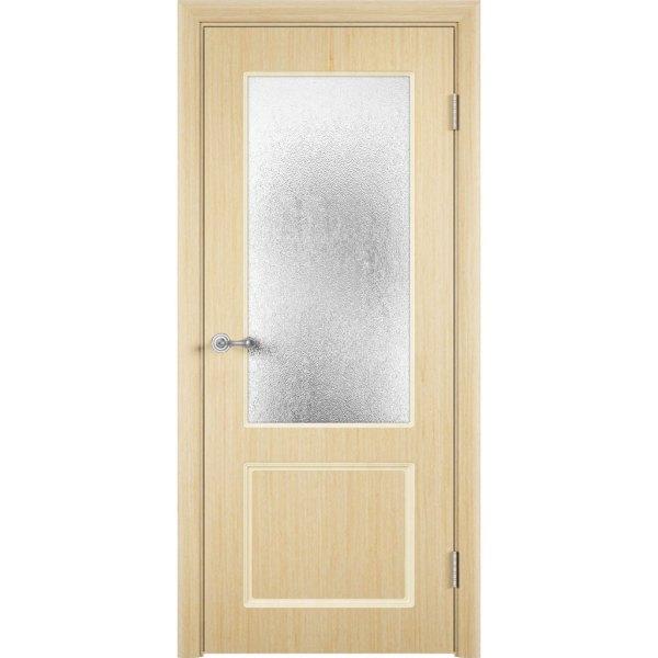 Шпонированная дверь Марсель (со стеклом, беленый дуб)
