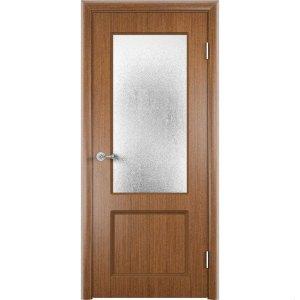 Шпонированная дверь Марсель (со стеклом, темный дуб)