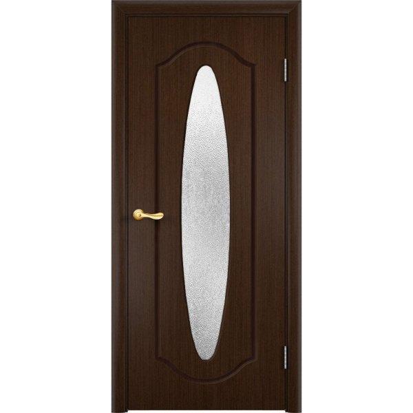 Шпонированная дверь Орбита (со стеклом, венге)