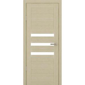 Межкомнатная царговая дверь К-03 (со стеклом, кремовая лиственница)