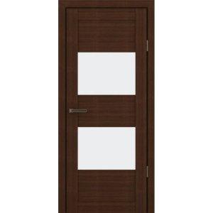 Межкомнатная царговая дверь С-400 (со стеклом, орех вела)