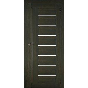 Межкомнатная царговая дверь Д-01 (со стеклом, венге)