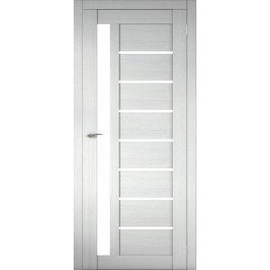 Межкомнатная царговая дверь Д-02 (со стеклом, белая лиственница)