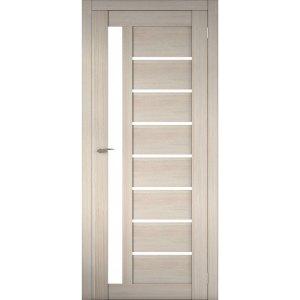 Межкомнатная царговая дверь Д-02 (со стеклом, кремовая лиственница)