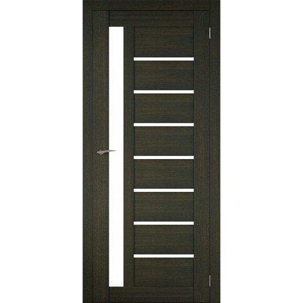 Межкомнатная царговая дверь Д-02 (со стеклом, венге)