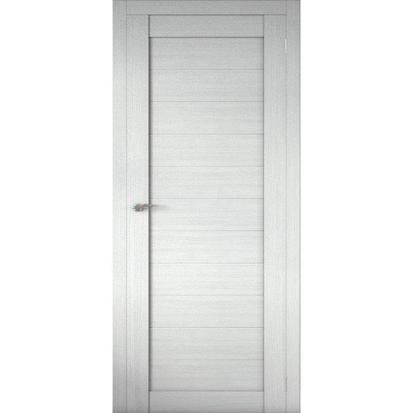 Межкомнатная царговая дверь Р-01 (глухая, белая лиственница)