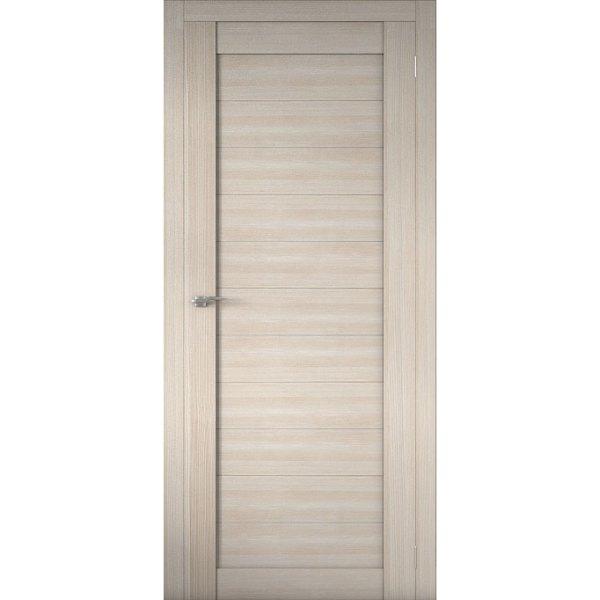Межкомнатная царговая дверь Р-01 (глухая, кремовая лиственница)