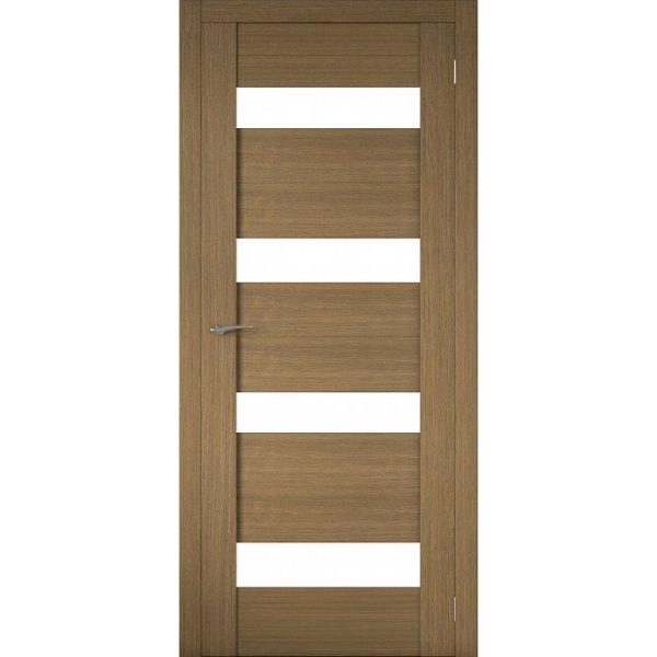 Межкомнатная царговая дверь Р-02 (со стеклом, орех вела)