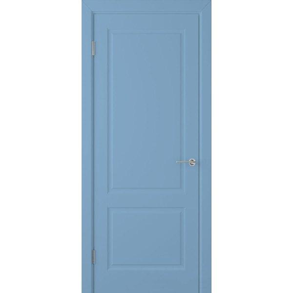 Крашеная дверь Евро 2 (глухая, RAL 5024)