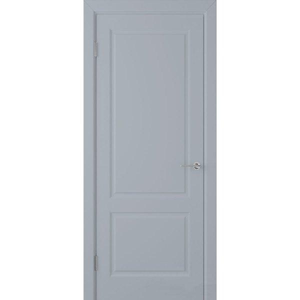 Крашеная дверь Евро 2 (глухая, RAL 7001)