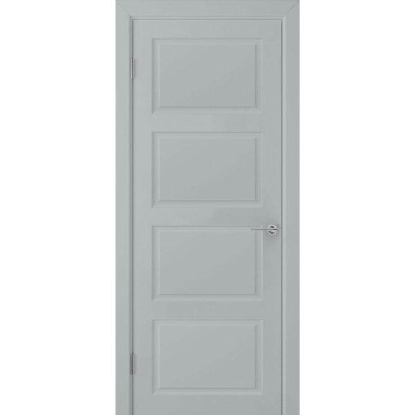 Крашеная дверь Евро 4 (глухая, RAL 7040)