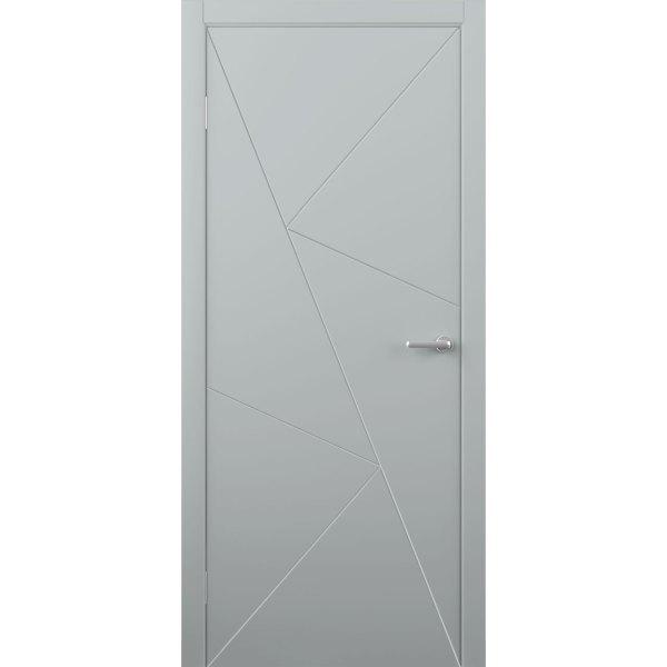 Крашеная дверь Графика (глухая, RAL 7040)