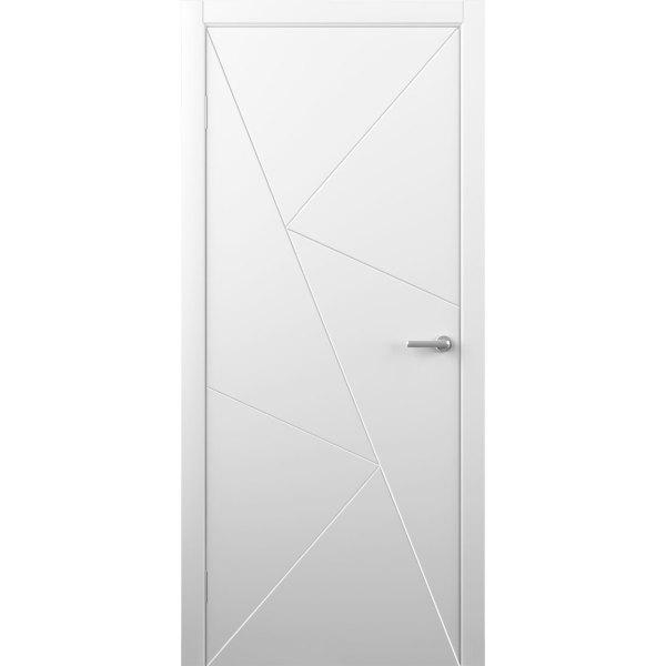 Крашеная дверь Графика (глухая, RAL 9003)