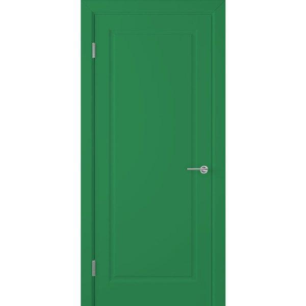 Крашеная дверь Евро (глухая, RAL 6001)