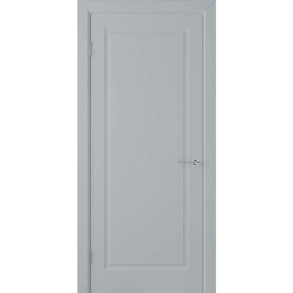 Крашеная дверь Евро (глухая, RAL 7040)