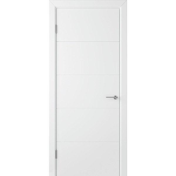 Крашеная дверь Кварта (глухая, RAL 9003)