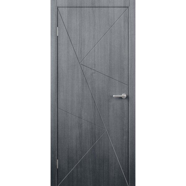 Шпонированная дверь Графика (ДГ, серебристый дуб)