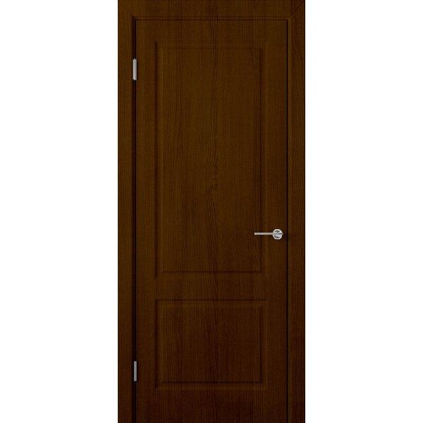 Шпонированная дверь Евро 2 (ДГ, венге)