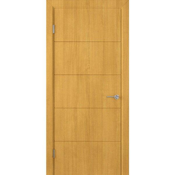 Шпонированная дверь Кварта (ДГ, дуб)