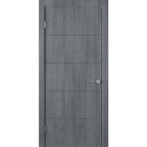 Шпонированная дверь Кварта (ДГ, серебристый дуб)