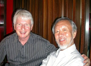 Richard Epworth with Charles Kao - 2010