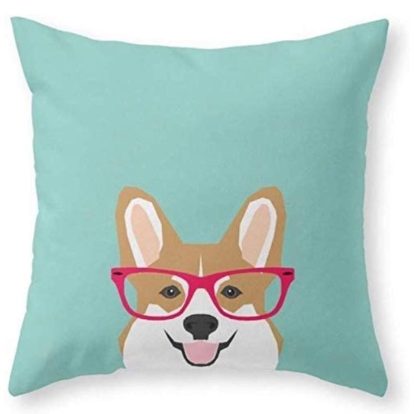 dog glasses pillow