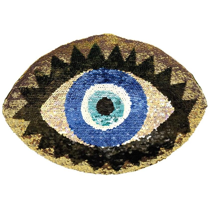 eye sequin pillow