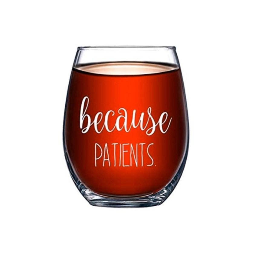patients wine glass