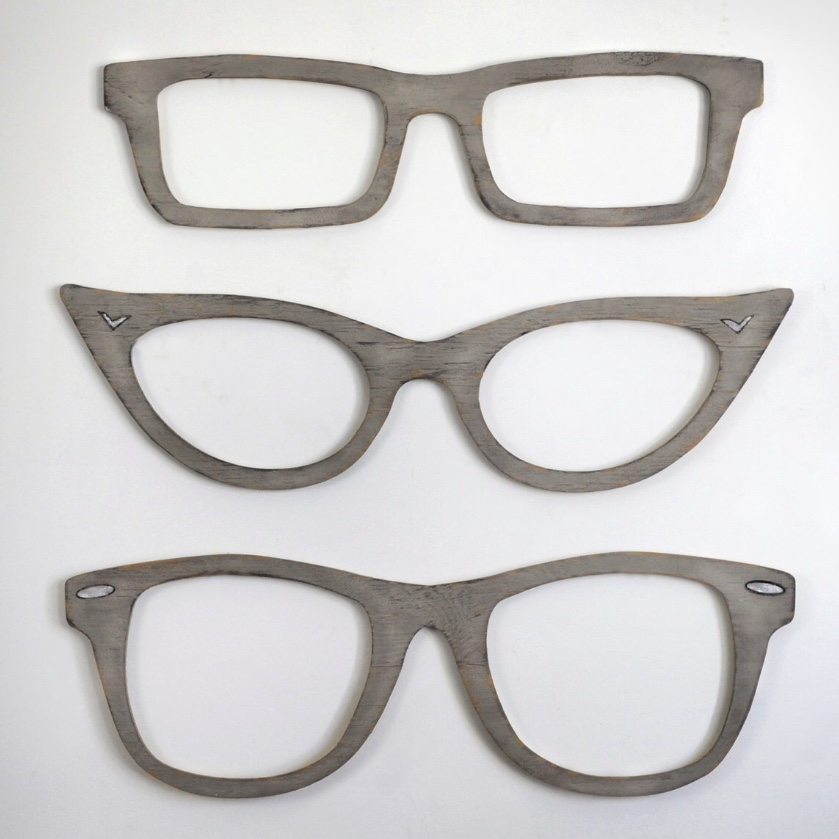 large wall glasses decor