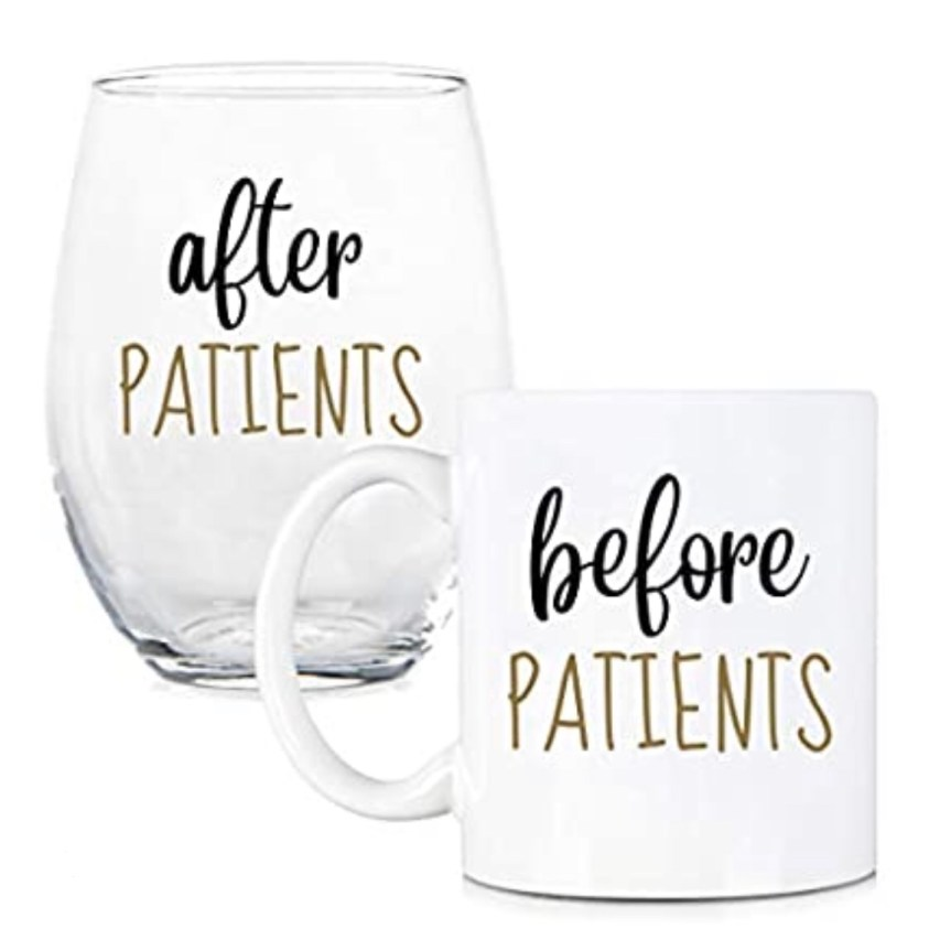 before and after patients glassware