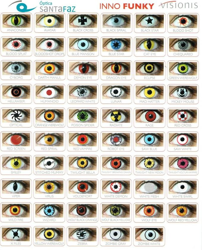 lentillas de colores para halloween