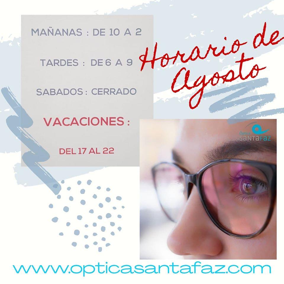 horario_agosto-optica_santa_faz-san_vicente_del_raspeig-alicante