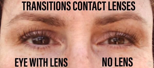 Transitions contact lenses in one eye