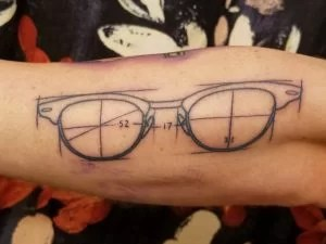 glasses tattoo