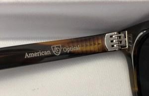 American Optical acetate hinge