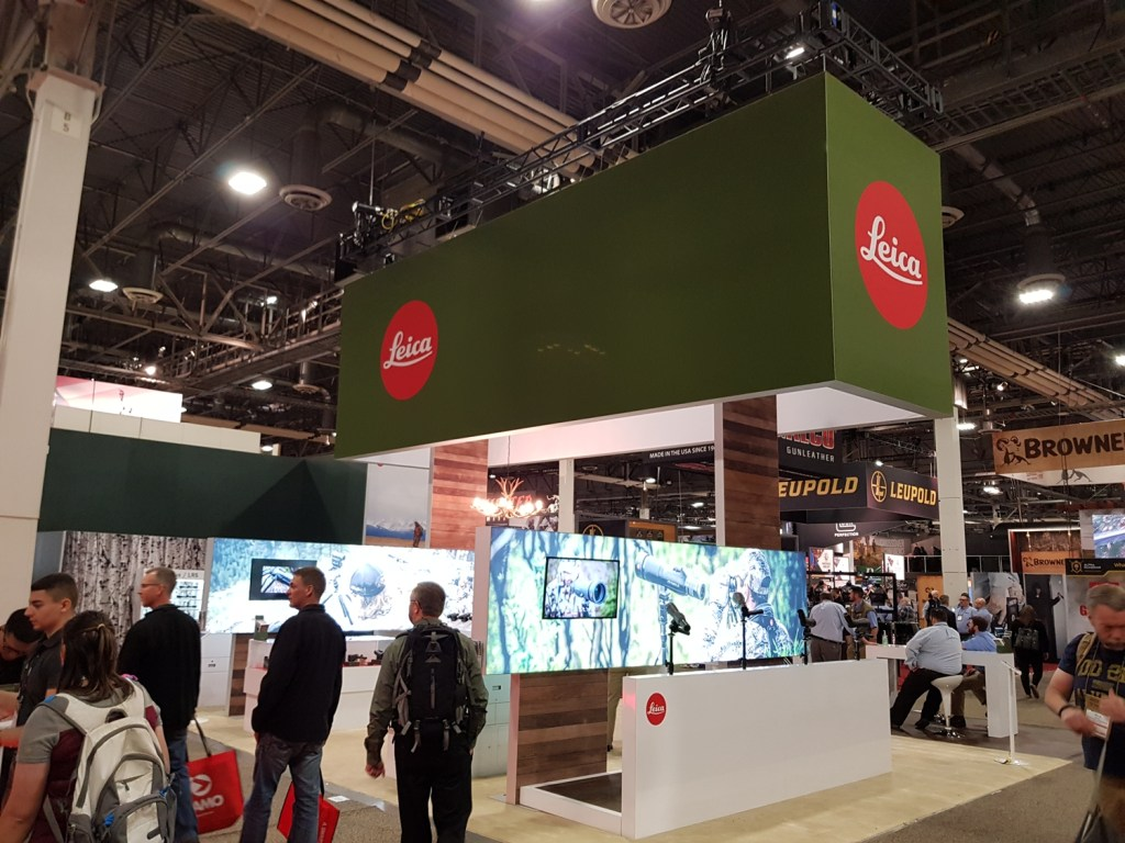 Leica's booth at Shot Show 2019