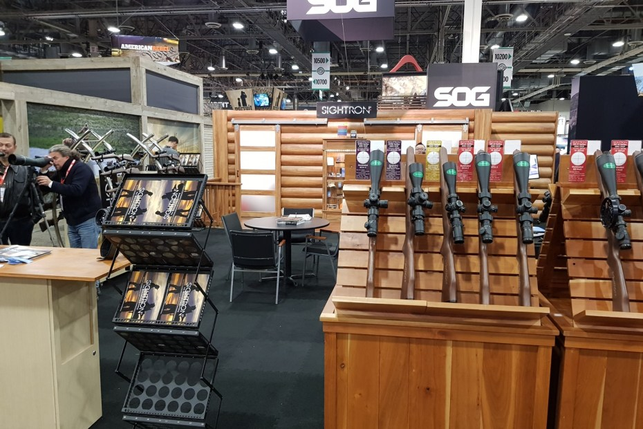 Sightron's booth at Shot Show 2019